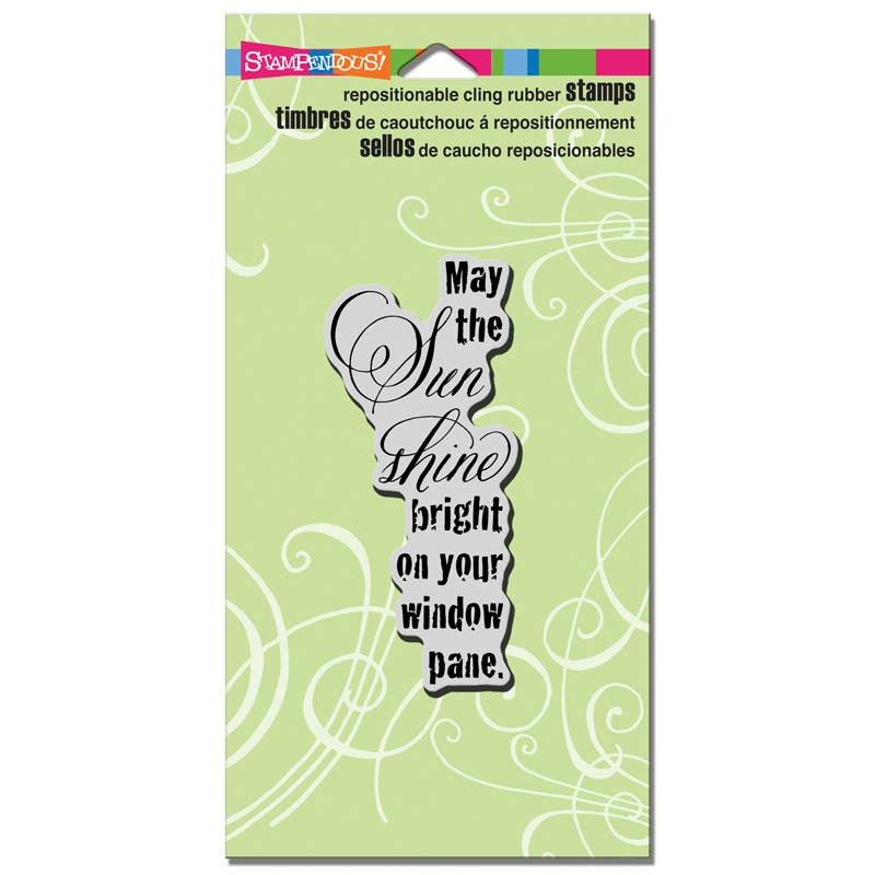 Stampendous Cling Rubber Stamp - May Sun Shine