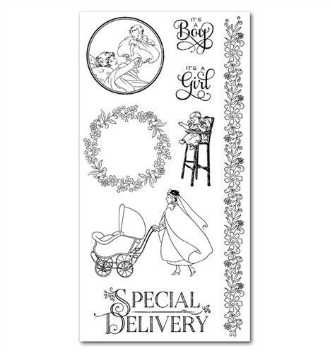 Graphic 45 Cling Stamps - Precious Memories 3