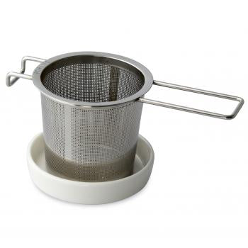 Tea infuser with white dish set