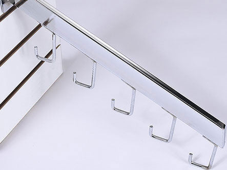 5 Hook Waterfall - Rectangular Tube - Chrome