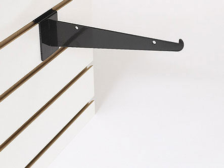 "10"" Shelf Bracket W/Lip - Black"