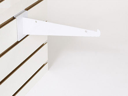 "8"" Shelf Bracket W/Lip - White"