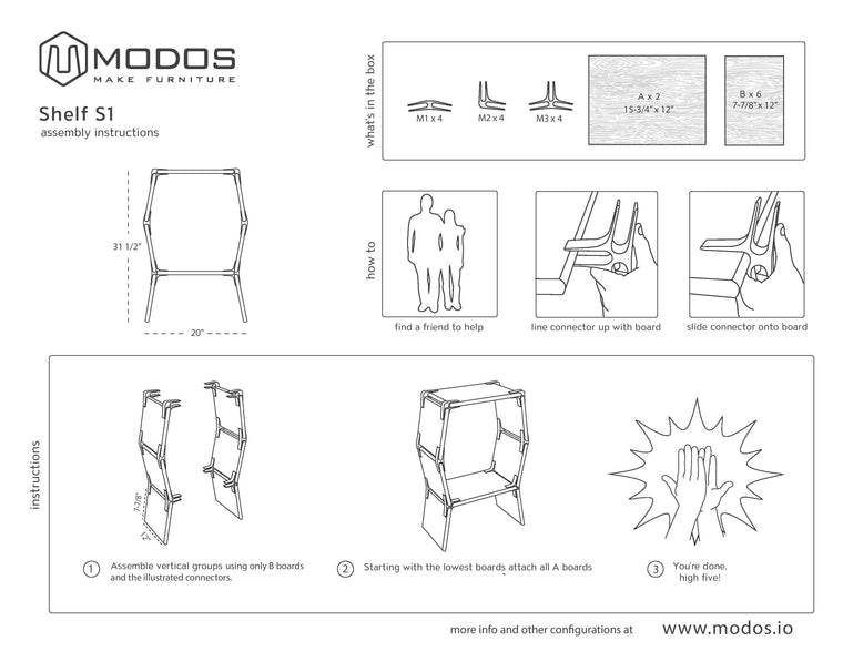 Assembly Instructions For Side Table/Single Cell Shelf