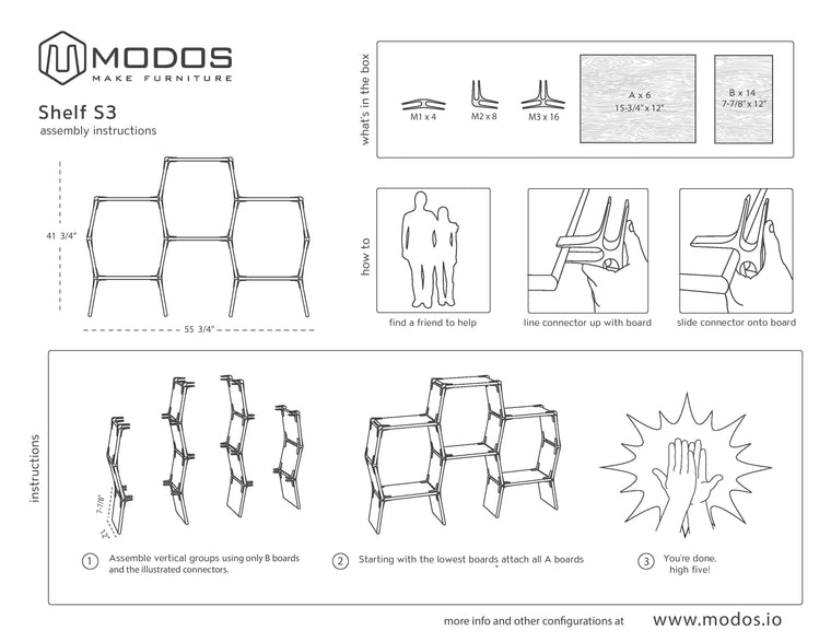 Assembly Instructions For The 3 Cell Shelf by Modos