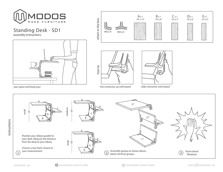 Assembly Instructions for the Standing Desk by Modos