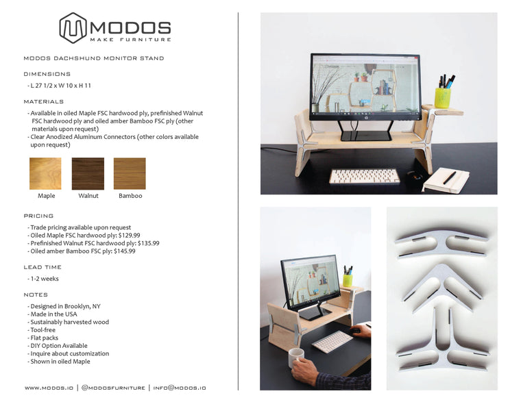 Tear Sheet for Dachshund Stand by Modos