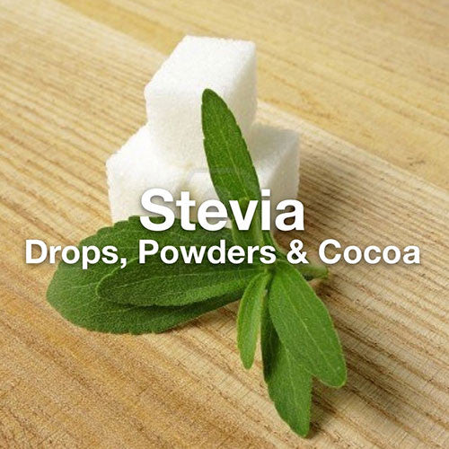Stevia Products: Sweeten your life naturally with our drops, powders and cocoas.
