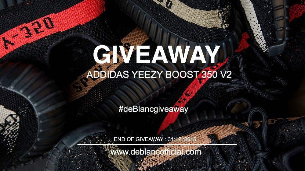 DEBLANC NEW YEAR YEEZY BOOST 350 V2 GIVEAWAY