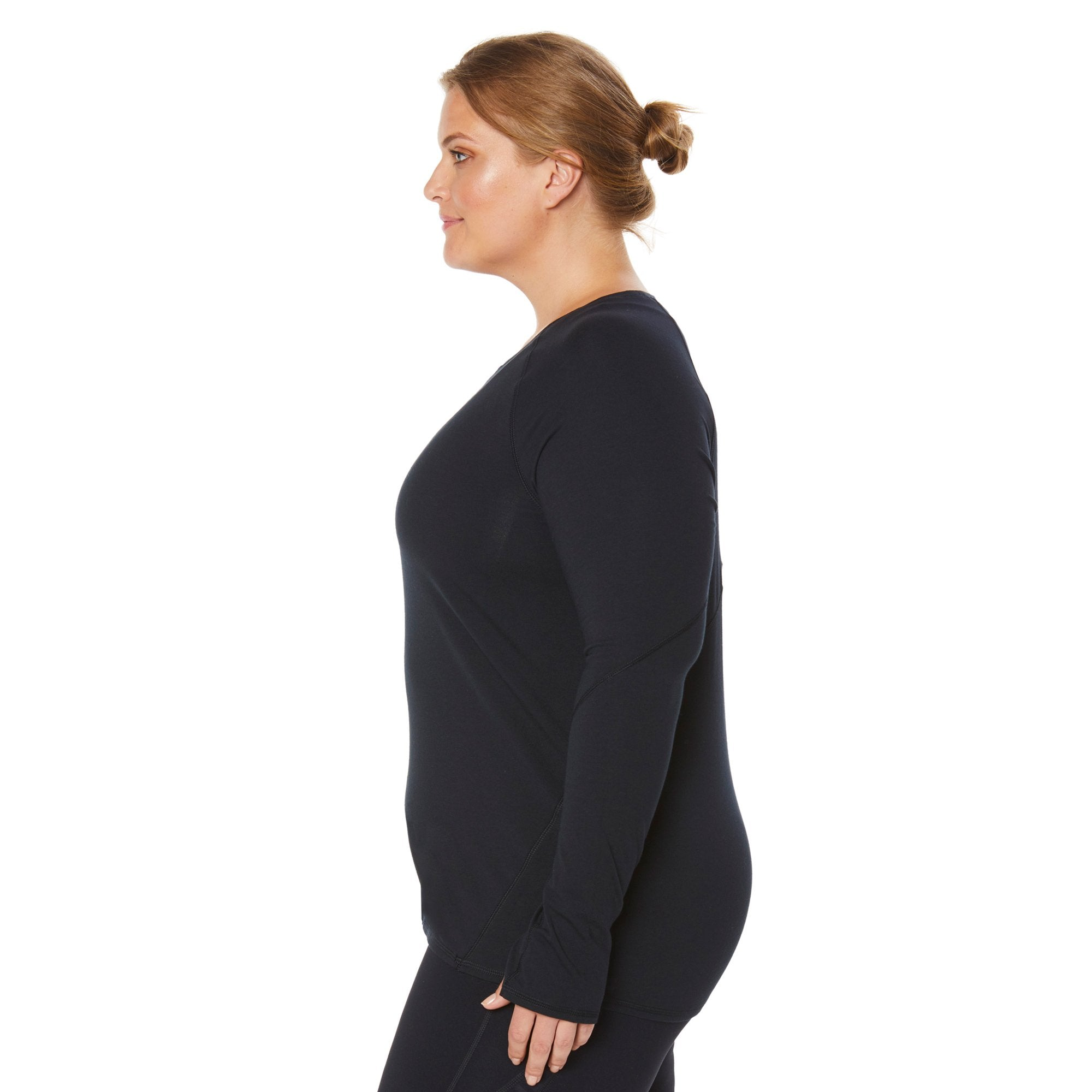 98930e9095d48 Plus Size Long Sleeve Shirts With Thumb Holes