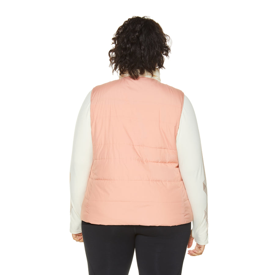 GLAMOUR PUFF VEST KNIT COLLAR (PLUS SIZE)