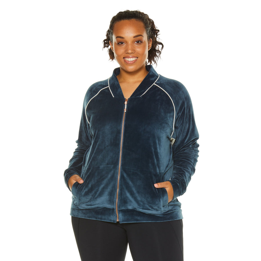TECHNO VELOUR TRACK JACKET (PLUS SIZE)
