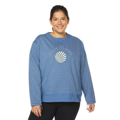 OVER/UNDER SWEATSHIRT (PLUS SIZE)