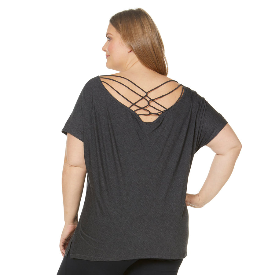 PAIA STRAPPY BACK TEE (PLUS SIZE)