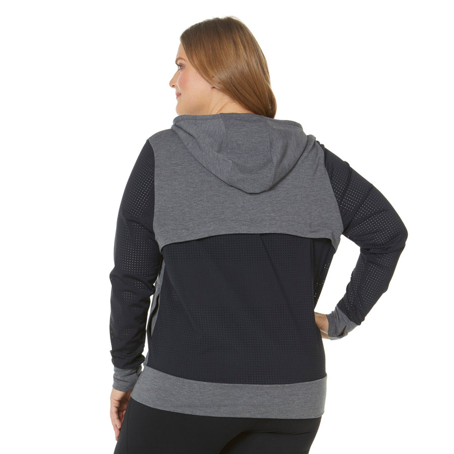 HANA FLEECE MESH JACKET (PLUS SIZE)