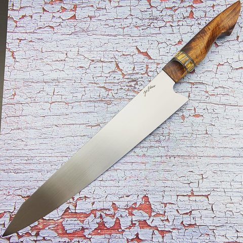 Joe Edson 270 mm AEB-L Stainless K-tip Gyuto Custom Chef Knife