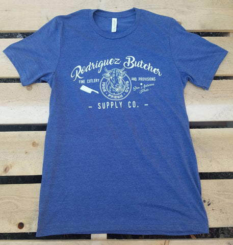 Rodriguez Butcher Supply T-Shirt - Heather Navy