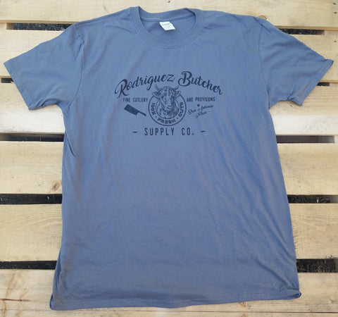 Rodriguez Butcher Supply T-Shirt - Gray