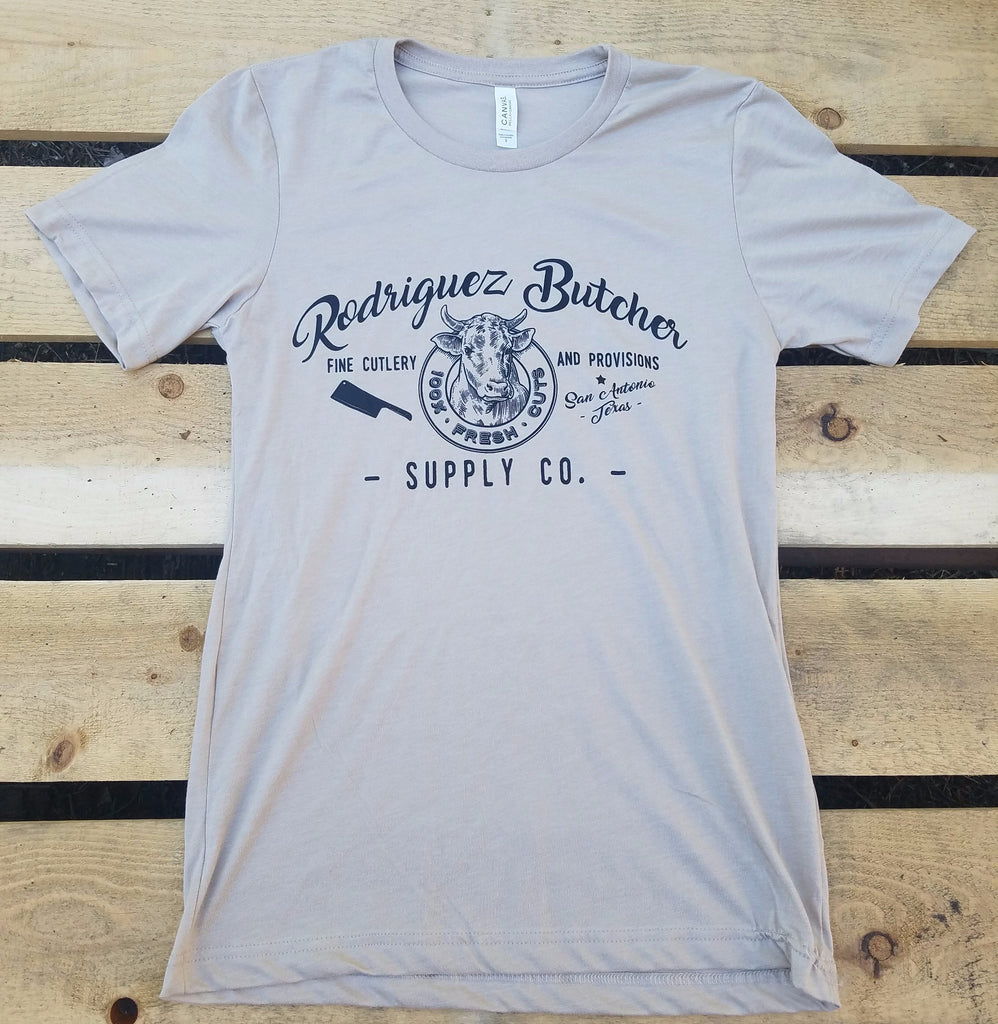 Rodriguez Butcher Supply T-Shirt - Heather Tan