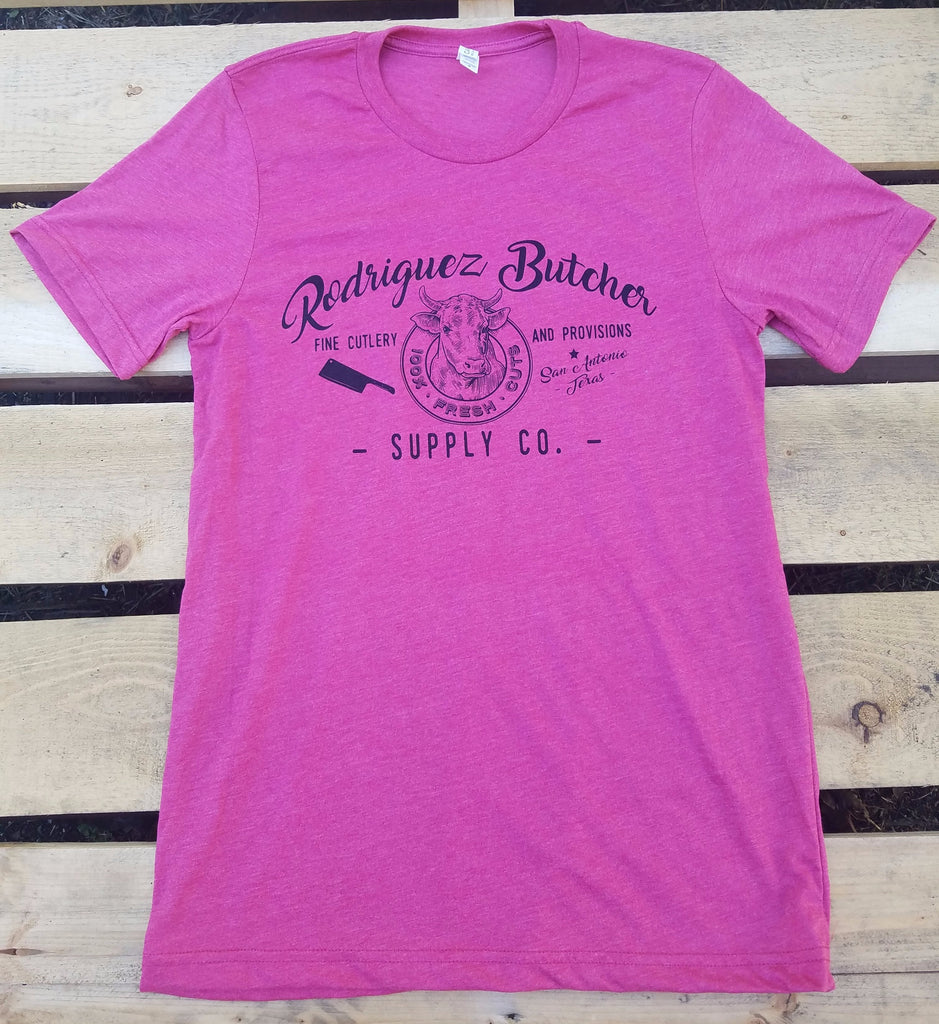 Rodriguez Butcher Supply T-Shirt - Heather Raspberry