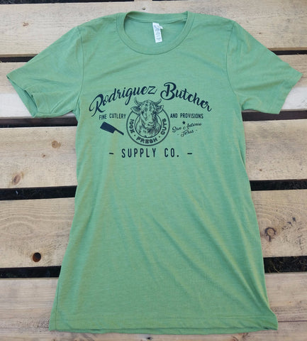 Rodriguez Butcher Supply T-Shirt - Heather Green