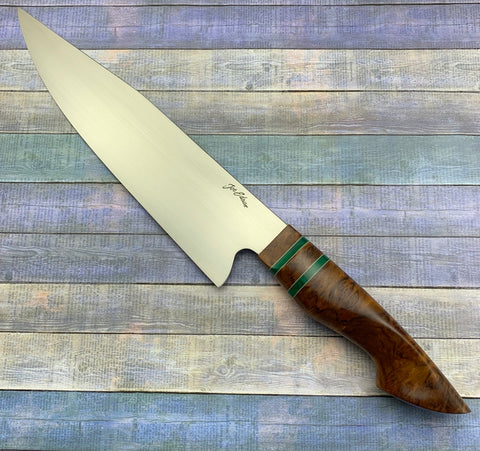 Joe Edson 215mm AEB-L Stainless Euro Style Custom Chef Knife