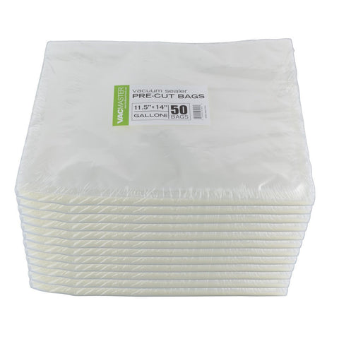 "Bulk - 11.5"" x 14"" Full Mesh Vacuum Seal Gallon Bags - 50 Count"