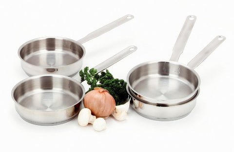 Demeyere Resto 4-pc Stainless Steel Mini Fry Pan Set