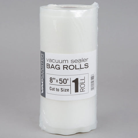 "8"" x 50' Full Mesh Vacuum Seal Roll - 1 Pack"