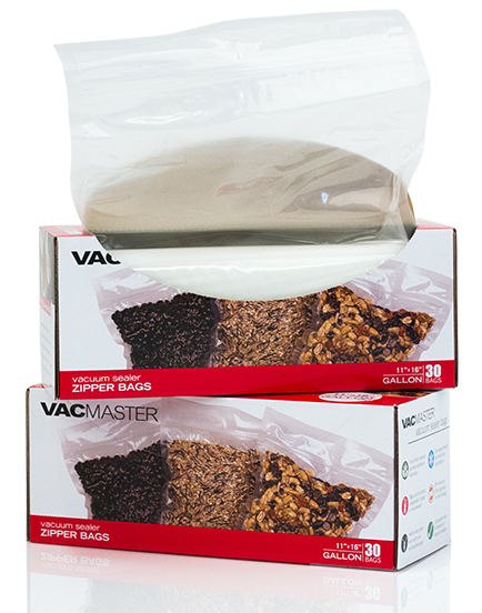 "11"" x 16"" Gallon Full Mesh Zipper Vacuum Seal Bags - 30 Pack"