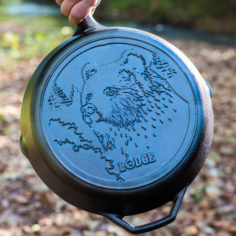 Lodge 12 Inch Skillet with Bear (Free Shipping)