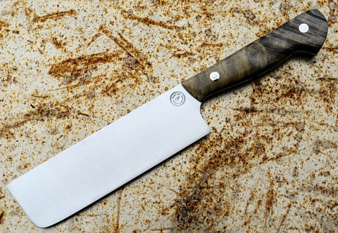 "American Made Blade 6.25"" AEB-L Stainless Nakiri Knife (This is a laser) *2nd"