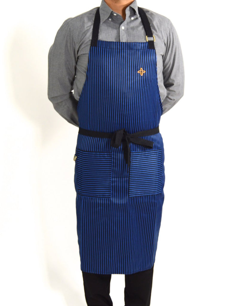 Boldric Stripes Apron - Blue