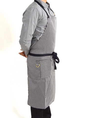 Boldric Stripes Apron - White