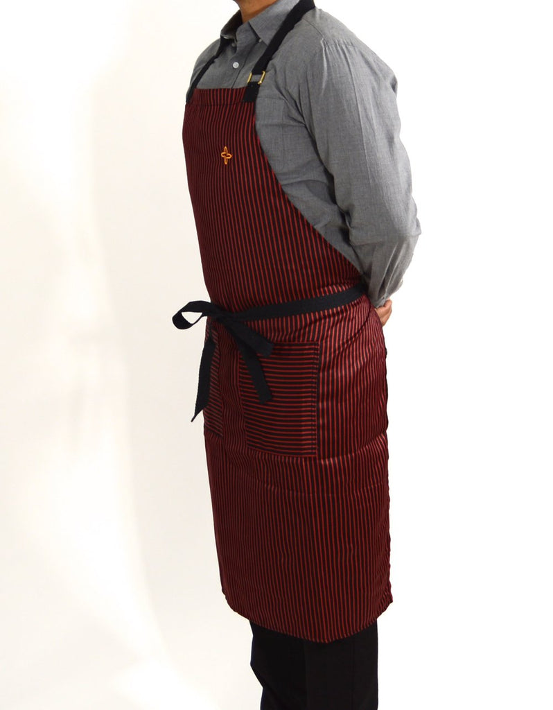 Boldric Stripes Apron - Red
