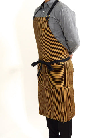 Boldric Stripes Apron - Yellow
