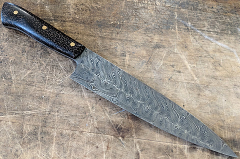 "Fell Knives Double Twist Damascus 7"" Gyuto"