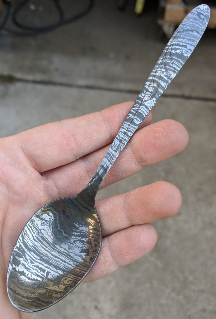 Black Blade Damascus Teaspoon