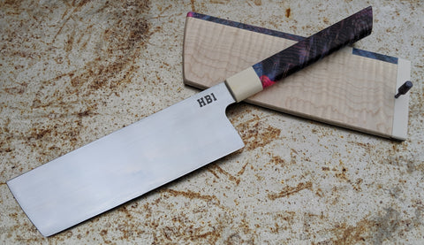 MAV Knives 175mm Tall Nakiri with Saya (HB1)