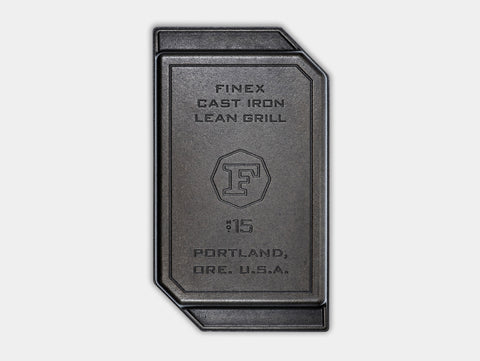 Finex Cast Iron Lean Grill Pan - 15""