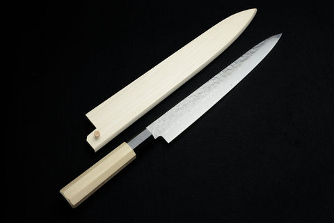 "Kikuichi Tsuchime Damascus 45 Layer Ho-wood Series 10"" Slicer"