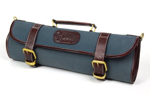 Boldric Abalone 9 pocket Canvas Roll Knife Bag