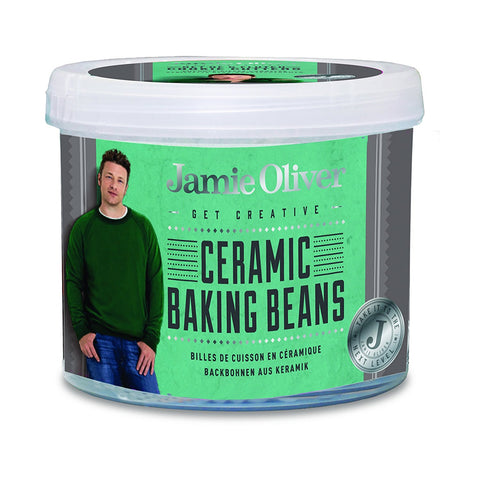 Jamie Oliver Baking Ceramic Pie Crust Weight Beans with Storage Container