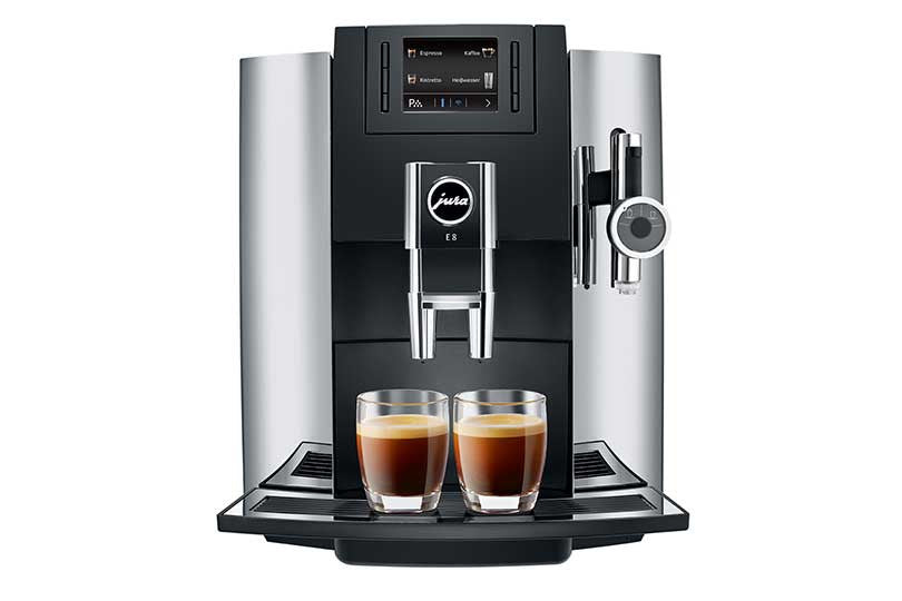 Jura E8 Chrome Automatic Coffee Center