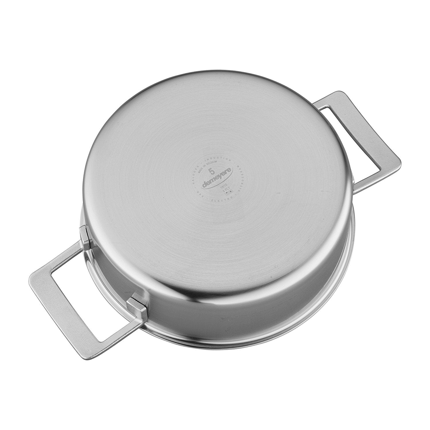Demeyere Industry 5 Ply 4 Qt Stainless Steel Deep Saute Pan