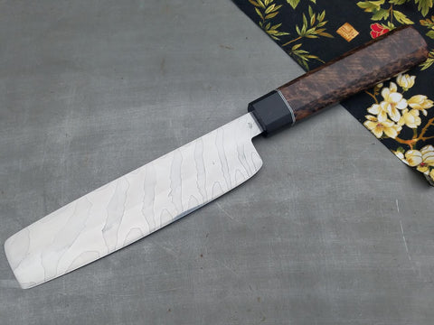 Roe Knives 178mm Damascus Nakiri