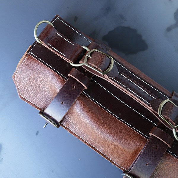Chef De Partie Leather Knife Roll