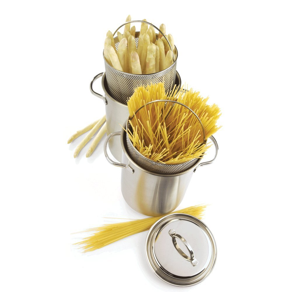 Demeyere Resto 4.8-qt Stainless Steel Asparagus/Pasta Cooker Set