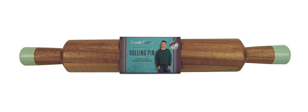 Jamie Oliver Classic Wood Rolling Pin for Baking - Large 18.5 Inch