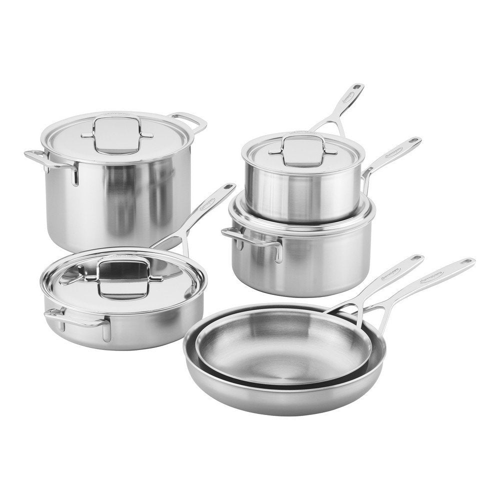 Demeyere Industry 5-Ply 10-pc Stainless Steel Cookware Set