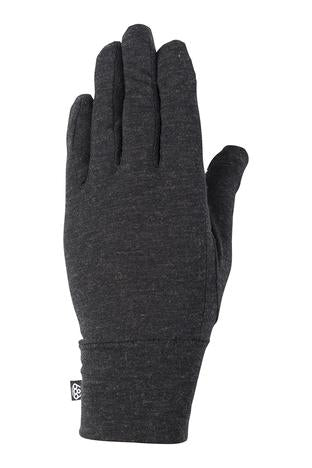 20/21 686 Women's Merino Glove Liner Black Heather
